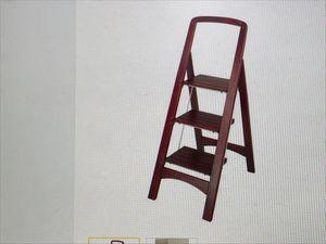 Rockford Walnut 3 Step Ladder for Sale in Dallas, TX