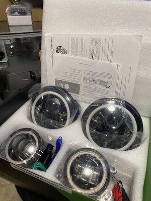 Jeep Wrangler JK Combo Headlight and Fog light Halo for Sale in Hialeah Gardens, FL