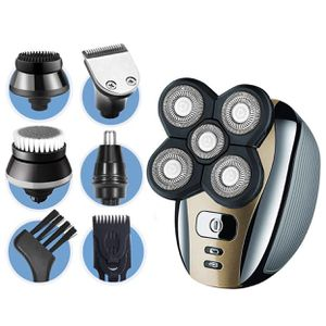 Electric Shaver for Men 5-in-1 Grooming Kit for Men: Five-Headed Beard Electric Razors,Nose Hair Trimmer,Head Shavers for Bald Men, Cordless and Recha for Sale in Corona, CA