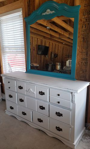 White / turquoise dresser for Sale in Channelview, TX