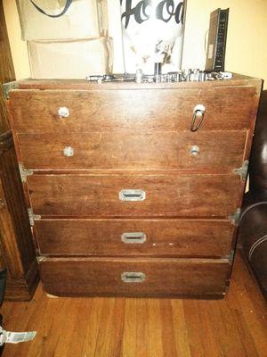 Vintage 5 drawer wood dresser for Sale in Denver, CO