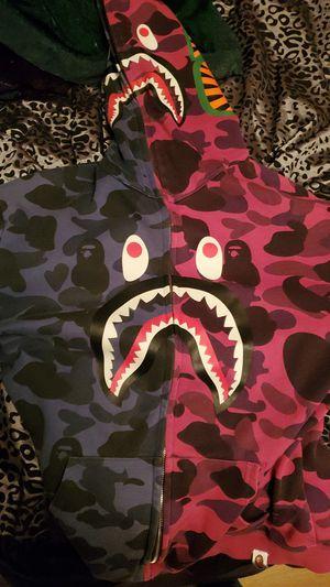 Bape Sweater Half Blue Pink for Sale in Delano, CA