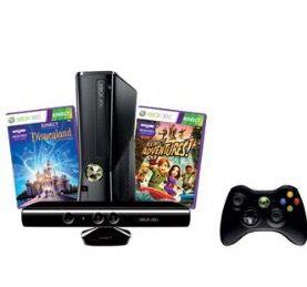 XBOX 360 4GB Console Bundle with Kinect Disneyland Adventures and Kinect Adventures for Sale for sale  Brooklyn, NY