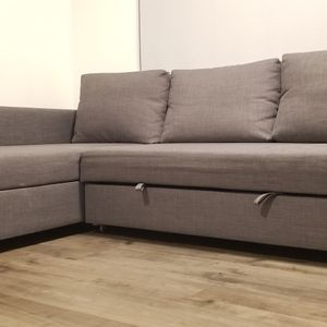 "IKEA - FRIHETEN Sleeper sectional, 3 seat w/ storage, Skiftebo dark gray. Length: 90 1/2"" for Sale in Portland, OR"
