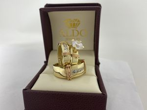 REAL GOLD ✨ Trio Wedding Rings TAKE IT HOME NOW PAYING $50 Initial Payment for Sale in Kissimmee, FL