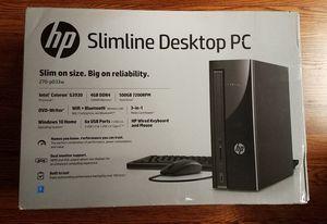 Brand New HP Slimline 270-p033w Desktop Tower Computer, Intel Celeron G3930 CPU, 4GB RAM, 500GB HDD Windows 10 for Sale in Nashville, TN