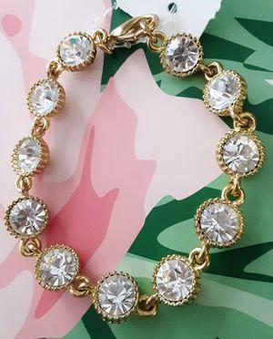 New goldtone link acrylic crystal bracelet for Sale in Fullerton, CA