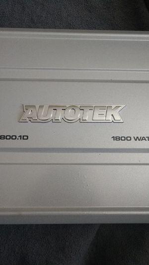 Autotek 1800.1watt car audio amplifier!!! for Sale in Aurora, IL