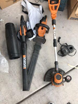 Worx trimmer, leaf blower, weedwacker for Sale in North Las Vegas, NV