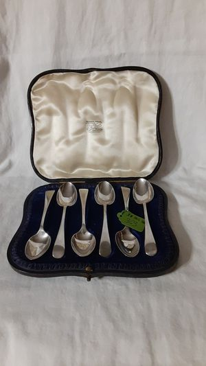 SET OF SIX ANTIQUE BRITISH SILVER SPOONS for Sale in Golden Oak, FL
