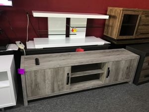 Grey tv stand for Sale in Irving, TX