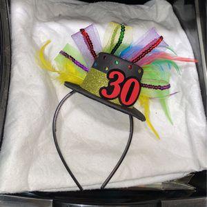 30th birthday hat/ headband for Sale in Hawaiian Gardens, CA
