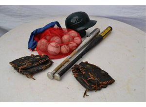 Baseball Equipment (bats, helmet, gloves, balls) for Sale in Stamford, CT