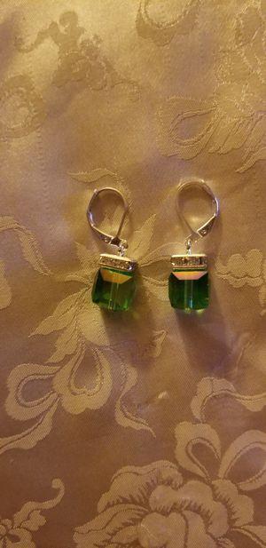 New!!! Stunning Green Squared Earrings for Sale in Wichita, KS