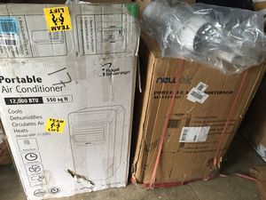 Two Brand New Portable A/C 300.00 each 14,000 btu and 12,000 btu both with dehumidifier and Heat for Sale in Columbus, OH
