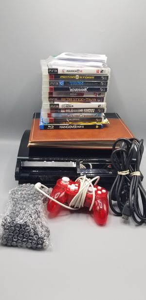 Sony Playstation 3 [PS3] 80GB Bundle W/20 Games [Backwards Compatible, Can Play PS2 Games] for Sale in New York, NY