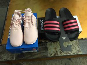 Adidas x-per shoes size 3 & Adidas Adilette Shower K size 6 BUNDLE for Sale in Las Vegas, NV