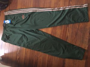 Adidas Track Pants ( Olive, Fire Bird) L for Sale in Washington, DC