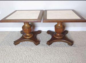 Rare Mersman Vintage Hostess Tables End Accent Side Pedestal Wood Table for Sale in Apopka, FL