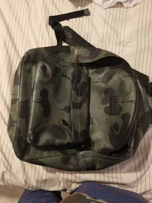 Camo coach mens leather backpack for Sale in Staten Island, NY
