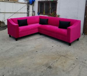 NEW 7X9FT ROYALE BERRY FABRIC SECTIONAL COUCHES for Sale in San Clemente, CA