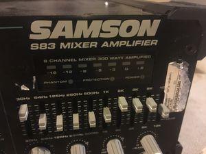 Mixer with amplifier Samson s83 for Sale in BRECKNRDG HLS, MO