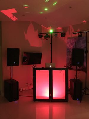 DJ equipment set (everything included) for Sale in Fort Lauderdale, FL