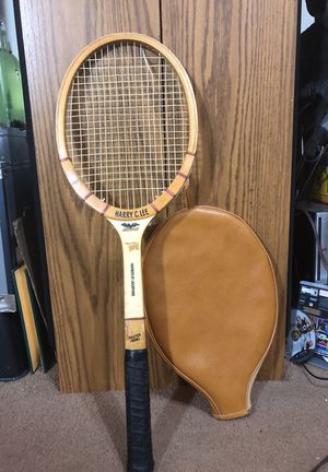 Antique Harry C. Lee Master Model Tennis Racket w/ Leather Sleeve for Sale in College Park, GA