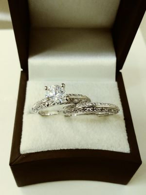 New with tag Solid 925 Sterling Silver ENGAGEMENT WEDDING Ring Set size 6 - 7 or 8 $150 each set OR BEST OFFER for Sale in Phoenix, AZ