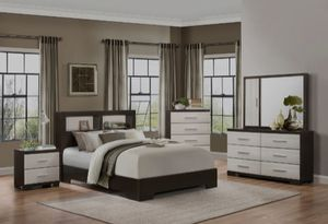👉 ♥️$39 down payment🎈- ❤ Pell White/Espresso Panel Bookcase Bedroom Set for Sale in West Laurel, MD