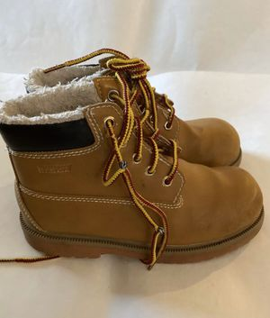 Payless Smart Fit Boys' Waterproof Boots Shoes Brown Kids - Size 3.5 for Sale in Boca Raton, FL