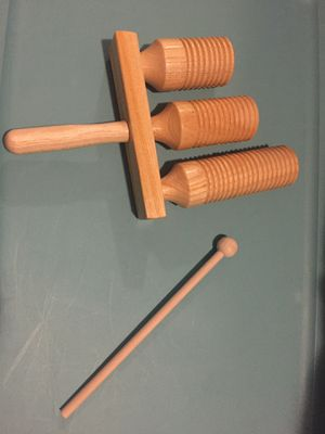 Decorative wooden Agogo Percussion Instrument for Sale in West Palm Beach, FL