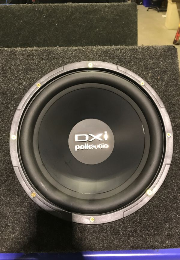 PolkAudio 12s never used ,ported box, free new tweeters, used amp