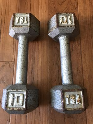 Pair of 10lb Dumbells Cast Iron for Sale in Oakland, CA