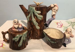 Vintage gnome five piece tea set for Sale in Niagara Falls, NY