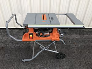 "RIDGID 15A 10"" Contractor's Table Saw for Sale in Columbus, OH"