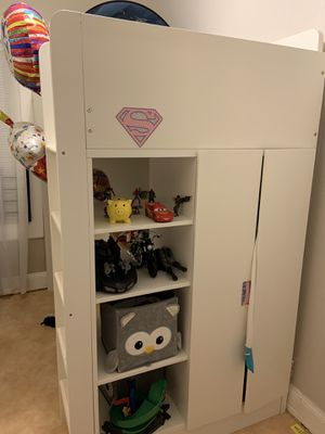 Twin IKEA loft bed with desk and closet FREE FREE for Sale in Paterson, NJ
