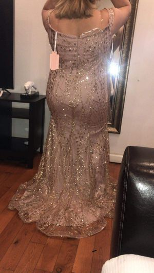 Rose gold prom dress for Sale in Philadelphia, PA