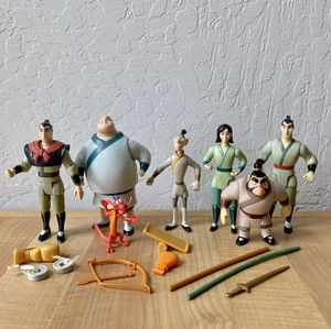 Vintage 90s Disney Mulan Posable Action Figure Toy Lot for Sale in Elizabethtown, PA
