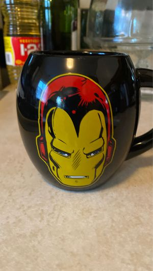 Marvel Iron Man 18 oz Oval Mug, Black, Yellow, and Red for Sale in West Chicago, IL