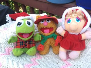 Vintage 1988 Christmas Holiday Edition Plush Muppet Babies for Sale in Seattle, WA