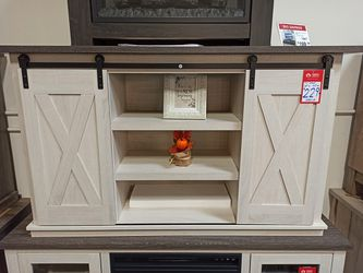 NEW, GRAY AND ANTIQUED WHITE COLOR, 54 inch TV STAND, SKU#TC287.gray and antiqued white color� for Sale in Westminster,  CA