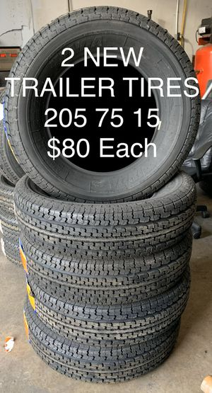 New 205 75 15 Trailer Tires $80 each for Sale in Galena Park, TX
