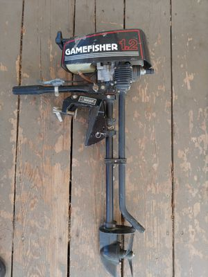 gamefisher 1.2hp gas outboard trolling motor for Sale in Lake Elsinore, CA