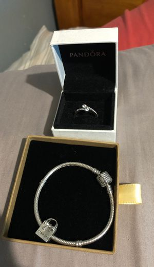 Pandora charm bracelet and ring for Sale in Mesquite, TX