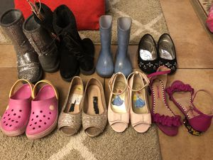 Kids boy & girls shoes & boots $3 $5 $7 for Sale in Tracy, CA