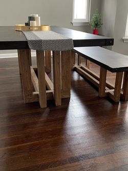 ARHAUS Concrete Kitchen Table With Matching Bench Indoor/outdoor for Sale in Lakewood,  OH