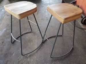 West Elm bar stools wood $80 for Sale in Paramount, CA