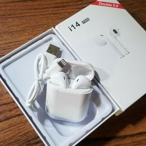 White Wireless Earbuds New Rechargeable. Bluetooth NOT APPLE for Sale in San Jose, CA