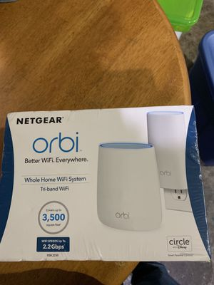 NETGEAR Orbi Compact Wall-Plug Whole Home Mesh WiFi System - WiFi Router and Wall-Plug Satellite Extender with speeds up to 2.2 Gbps Over 3,500 sq. f for Sale in San Jose, CA